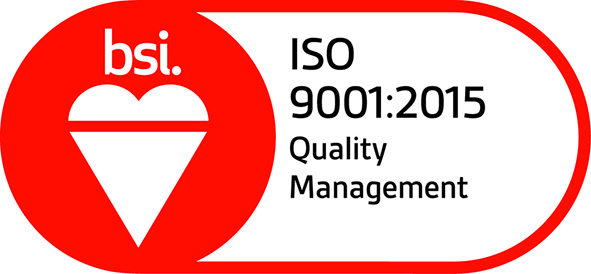BSI Assurance Mark ISO 9001 2015 Red small
